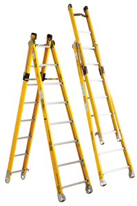 Bauer Combination Step Extension Ladder