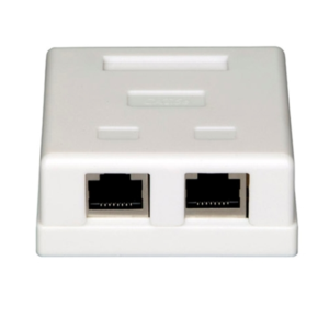 Vericom 2-Port RJ45 Keystone Surface Mount Box